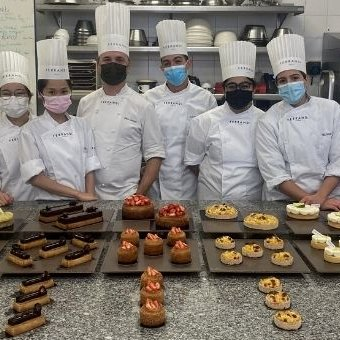 Our students with their Chef Stevy Antoine at FERRANDI Paris